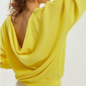 NWT Anthro Maeve Kasi Ribbed Knit Pullover Yellow
